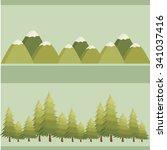 vector illustration. landscape... | Shutterstock .eps vector #341037416