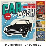 vintage retro style. set of... | Shutterstock .eps vector #341038610