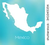 a map of the country of mexico | Shutterstock .eps vector #341045354
