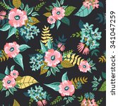 seamless floral pattern... | Shutterstock .eps vector #341047259