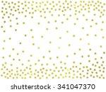 stars gold confetti border.... | Shutterstock . vector #341047370