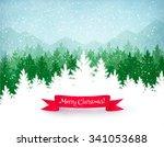 Christmas Landscape Background...