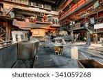 metal smelting furnace in steel ... | Shutterstock . vector #341059268