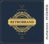 vector calligraphic logo... | Shutterstock .eps vector #341064836