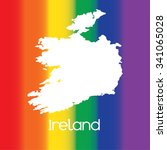 a map of the country of ireland | Shutterstock .eps vector #341065028