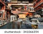 metal smelting furnace in steel ... | Shutterstock . vector #341066354