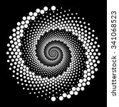 design spiral dots backdrop.... | Shutterstock .eps vector #341068523
