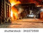 metal smelting furnace in steel ... | Shutterstock . vector #341073500
