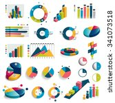 mega set of charts  graphs ... | Shutterstock .eps vector #341073518