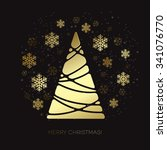 vector gold christmas tree. ... | Shutterstock .eps vector #341076770
