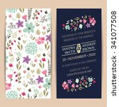 wedding invitation card or... | Shutterstock .eps vector #341077508