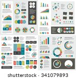 mega set of infographics... | Shutterstock .eps vector #341079893