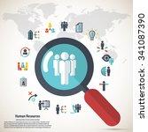 human resource   conceptual... | Shutterstock .eps vector #341087390