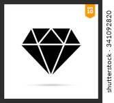 vector icon of diamond with... | Shutterstock .eps vector #341092820