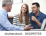 couple talking with financial... | Shutterstock . vector #341095733