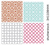 modern mesh seamless pattern in ... | Shutterstock .eps vector #341108444
