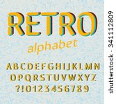 old style alphabet. retro type... | Shutterstock .eps vector #341112809