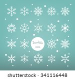 snowflakes collection | Shutterstock .eps vector #341116448
