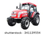 New Red Agricultural Tractor...