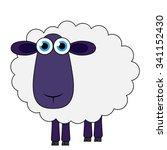 vector cartoon sheep... | Shutterstock .eps vector #341152430