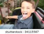 Roller Coaster Ride. Child...