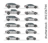 car icon set grey vector... | Shutterstock .eps vector #341156744