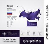 russia map | Shutterstock .eps vector #341163533
