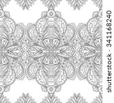 seamless paisley pattern.... | Shutterstock .eps vector #341168240