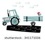 tractor | Shutterstock .eps vector #341171036