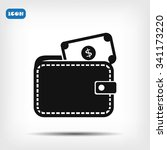 wallet with dollars icon | Shutterstock .eps vector #341173220