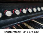 Vintage Pedal Organ Showing Th...