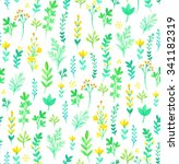 seamless watercolor pattern... | Shutterstock . vector #341182319