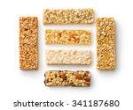muesli bars on white background | Shutterstock . vector #341187680