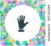 hand vector icon. | Shutterstock .eps vector #341191064