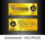 silver gift voucher template...   Shutterstock .eps vector #341199230