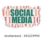 social media concept  painted... | Shutterstock . vector #341219954