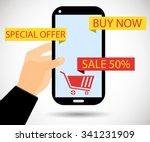 online shopping. sale of 50...   Shutterstock .eps vector #341231909