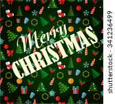 abstract christmas and new year ... | Shutterstock . vector #341236499
