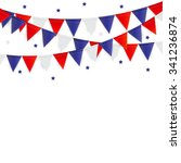 party background with flags... | Shutterstock . vector #341236874
