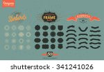 retro vintage logo design... | Shutterstock .eps vector #341241026