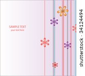 floral card   Shutterstock .eps vector #34124494