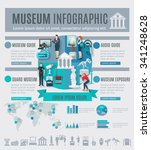 museum infographics set with... | Shutterstock .eps vector #341248628