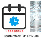 time service day vector icon...