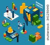 banking  isometric design... | Shutterstock .eps vector #341250440