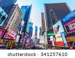 new york city   october 10 ... | Shutterstock . vector #341257610