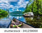Canoeing On A Lake In Quebec ...