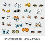 different cartoon eyes. vector... | Shutterstock .eps vector #341259338