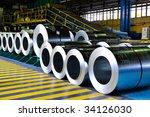 Rolls Of Steel Sheet In A...