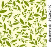 seamless pattern with leaves.... | Shutterstock .eps vector #341262440