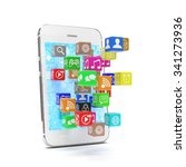 icon app fall in smart phone | Shutterstock . vector #341273936